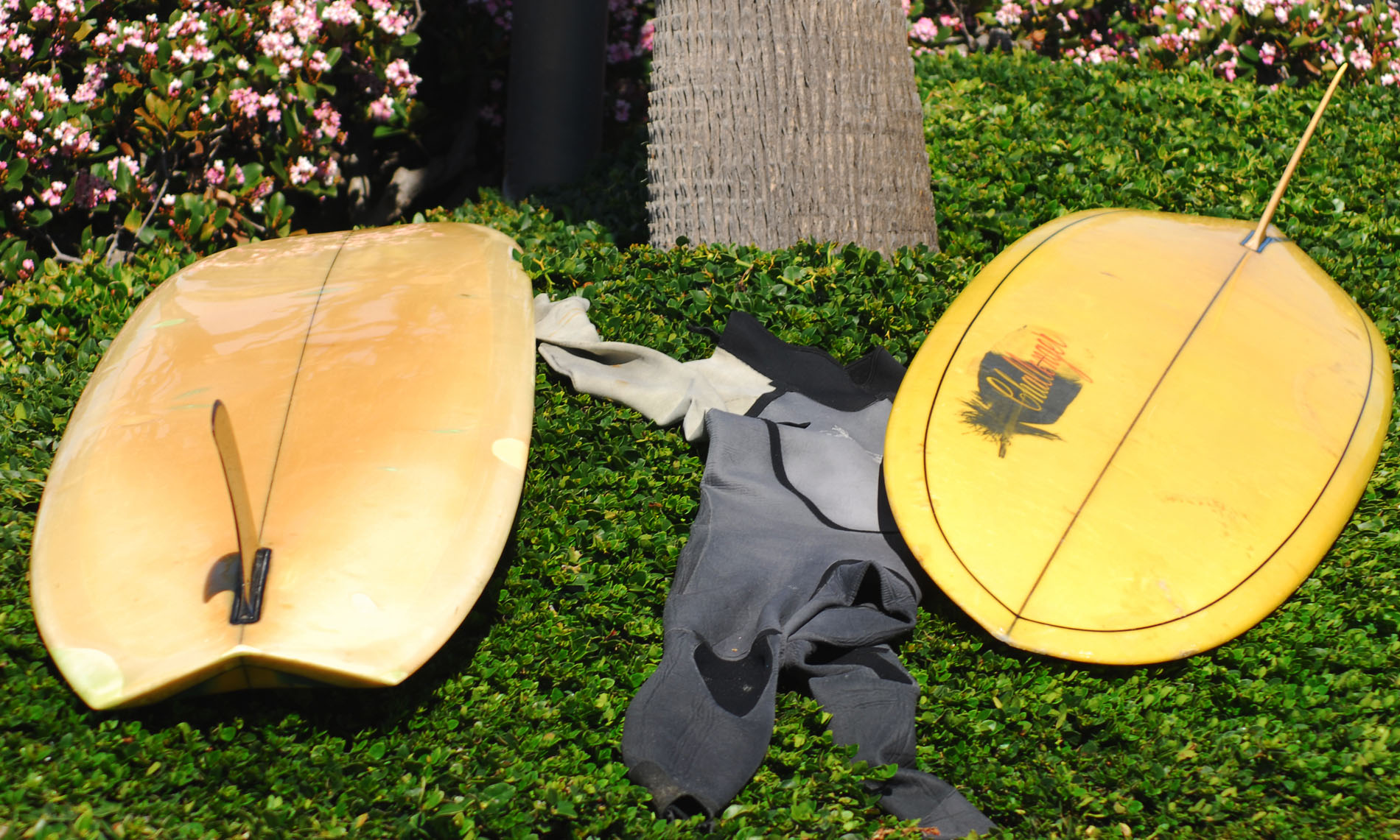 Surfboards Hawaii v bottom and Challenger Micro Vee