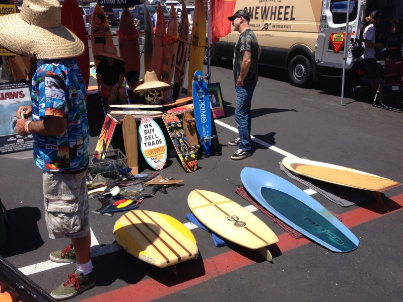 The last of my Boardroom pics. Dude named Steve (I think) had an insane collection of old WAVEset, Hobie dogbone, etc. fins!!!